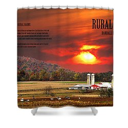 Shower Curtain featuring the photograph Rural Barns  My Book Cover by Randall Branham