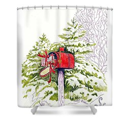 Country Living Christmas Delivery Shower Curtain