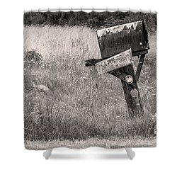 Rural Route Mail Call  Shower Curtain