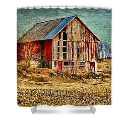 Rural Rustic Vermont Scene Shower Curtain by Deborah Benoit