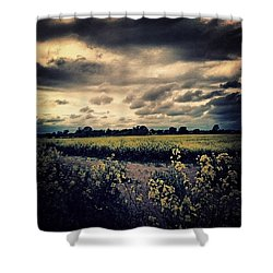 #rural #sky #skyscape #skyporn Shower Curtain by Vicki Field