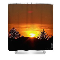 Shower Curtain featuring the photograph Rural Sunset by Gena Weiser