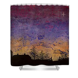Rural Sunset Shower Curtain
