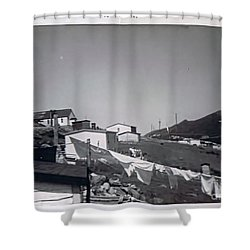 Rural Washday 1969 - Nostalgic Memories Shower Curtain by Barbara Griffin