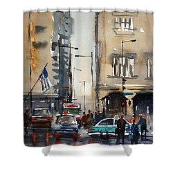 Rush Hour - Chicago Shower Curtain by Ryan Radke