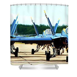 Rush Hour For Angels Shower Curtain by Kevin Fortier