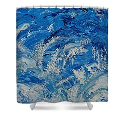 Shower Curtain featuring the painting Rush by Katherine Young-Beck