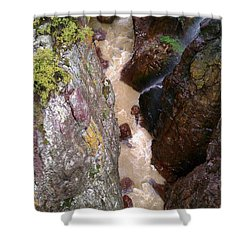 Shower Curtain featuring the photograph Rushing Crevasse by Fortunate Findings Shirley Dickerson