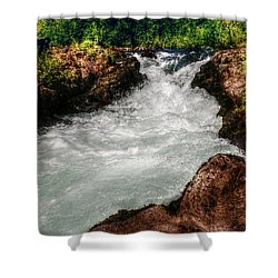 Rushing Rogue Gorge Shower Curtain by Melanie Lankford Photography