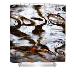 Rushing Water Shower Curtain by Deborah  Crew-Johnson