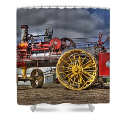 Russell Steam Shower Curtain by Shelly Gunderson
