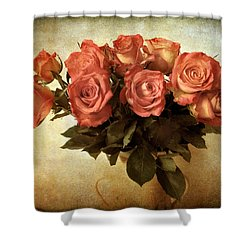 Russet Rose Shower Curtain by Jessica Jenney