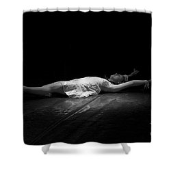 Shower Curtain featuring the photograph Russian Ballerina As A Melting Snowflake. by Clare Bambers