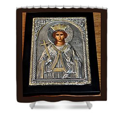 Russian Byzantin Icon Shower Curtain by Jay Milo