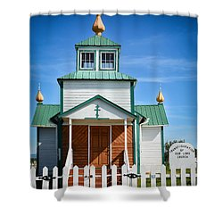 Russian Orthodox Church Shower Curtain by Andrew Matwijec