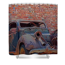 Rust In Goodland Shower Curtain by Lynn Sprowl