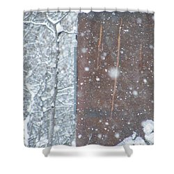 Rust Not Sleeping In The Snow Shower Curtain by Brian Boyle