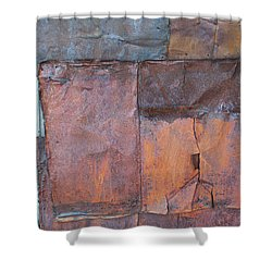 Rust Squared Shower Curtain
