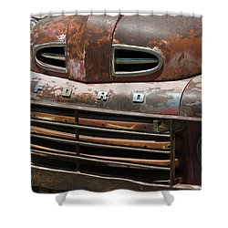 Rusted Ford In Hackberry Shower Curtain