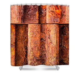 Rusted Gears  Shower Curtain by Jim Hughes