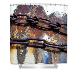 Rusted Links Shower Curtain by Fran Riley