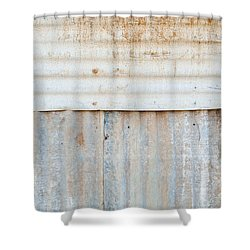 Rusted Metal Background Shower Curtain by Tim Hester