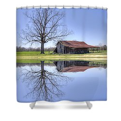 Rustic Barn Shower Curtain by David Troxel