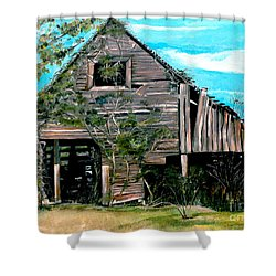 Rustic Barn - Mooresburg - Tennessee Shower Curtain