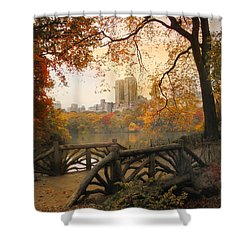 Shower Curtain featuring the photograph Rustic City View by Jessica Jenney