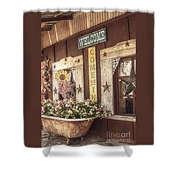 Rustic Country Welcome Shower Curtain