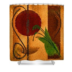 Rustic Elegance Geometric Autumn Abstract Shower Curtain by Tracie Kaska