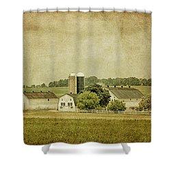 Rustic Farm - Barn Shower Curtain by Kim Hojnacki