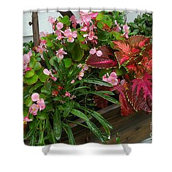 Shower Curtain featuring the photograph Rustic Garden by Christiane Hellner-OBrien