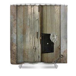 Rustic Glass Door Knob Shower Curtain