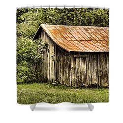 Rustic Shower Curtain by Heather Applegate