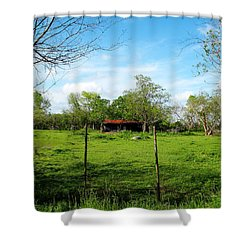 Rustic Land Of Beauty - Rural Texas Shower Curtain
