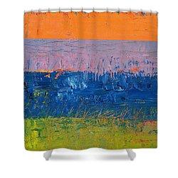 Rustic Roadside Series 2 - Thistle Field Shower Curtain