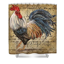 Rustic Rooster-jp2119 Shower Curtain by Jean Plout