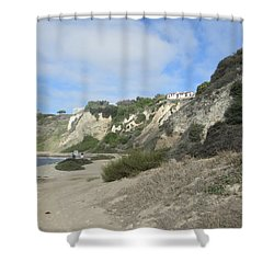 Rustic Shoreline Shower Curtain