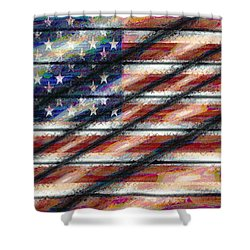 Rustic Usa Shower Curtain
