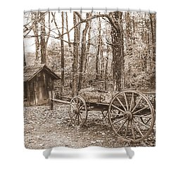 Rustic Wagon Shower Curtain by Debbie Green