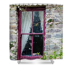 Rustic Window  Shower Curtain