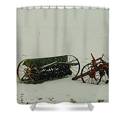 Rusting In The Snow Shower Curtain by Jeff Swan
