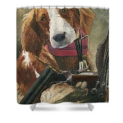 Rusty - A Hunting Dog Shower Curtain