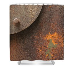 Rusty Abstraction Shower Curtain