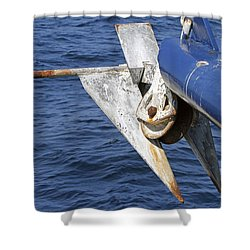 Rusty Anchor  Shower Curtain by Shoal Hollingsworth