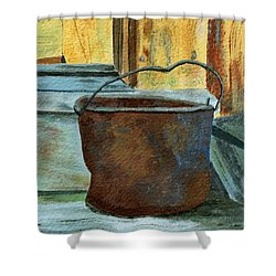 Rusty Bucket Shower Curtain