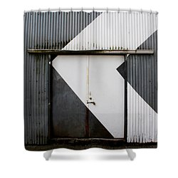 Rusty Door- Photographay Shower Curtain by Linda Woods