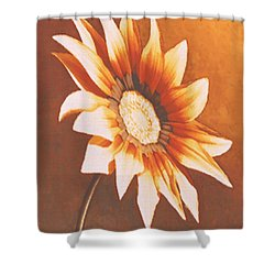 Rusty Gazania Shower Curtain