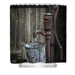 Rusty Hand Water Pump Shower Curtain